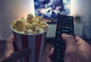 Watch movie with Popcorn